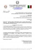 Leggi tutto: COMUNICAZIONE SOSPENSIONE DELLE LEZIONI DIDATTICHE IN PRESENZA PER DISPOSIZIONE DI ISOLAMENTO...