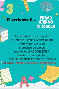 Leggi tutto: PRIMO GIORNO DI SCUOLA - Scuola Primaria